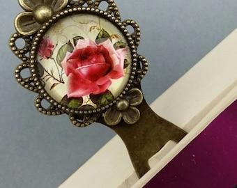 Bookmark page/metal/unique/original/flowers/jewelry/cabochon/handmade/book/romantic/Vintage/retro/shabby