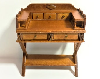 Dollhouse Miniature JBM Serving Station Table with Drawers 1:12 Scale Furniture