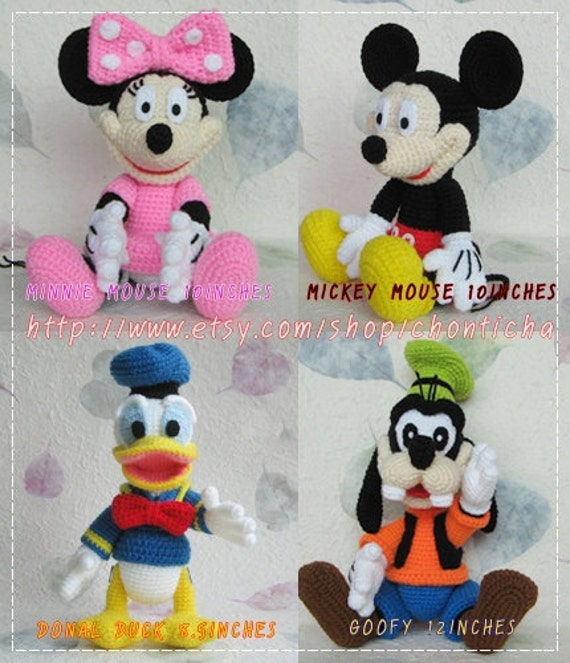 Mickey Mouse And The Gang Pdf Amigurumi Crochet Pattern