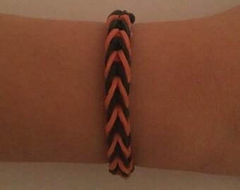 Halloween Style Loom Rubber Band Bracelet-Fishtail Design (Free Shipping)