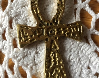Vintage Brass Cross