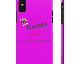 Personalized Case Mate Tough Phone Cases, iPhone & Samsung Cell Phone Cases, Student Gift, Personalized Case, For Her, For Him, Teen Gift