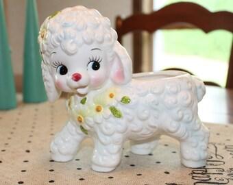 Cute Vintage Relpo Lamb Planter