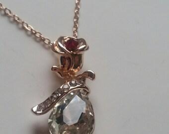 Rose Gold Filled CZ Necklace