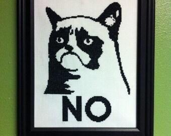 Grumpy Cat Cross-Stitch Downloadable PDF Pattern