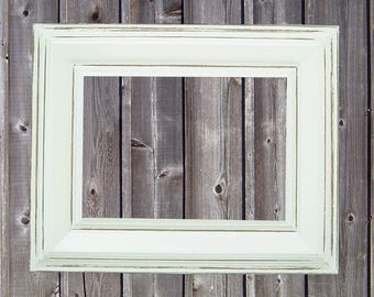 Picture Frame 5x7 Custom 5x7 Picture Frame Distressed Picture Frame Rustic Picture Frames White Picture Frames or Custom Color