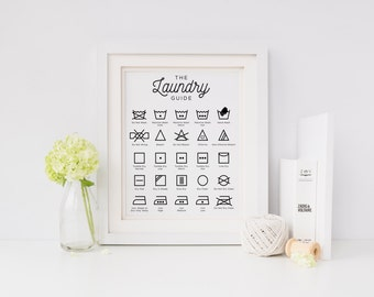 laundry cheat sheet | laundry guide | laundry room decor | home decor | printable | wash fold repeat | cleaning printable | laundry print