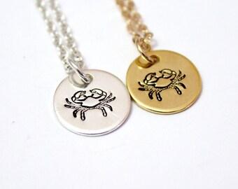 Cancer zodiac necklace, Gold zodiac, Zodiac necklaces, Zodiac symbols for June and July, Cancer sign, Zodiac jewelry, Cancer Sterling Silver