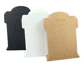 Hairbow display card- Hair tie card- Hairclip card- Kraft card- Display card  3 x 4- Choose color & Quantity!!