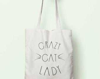 Crazy Cat Lady Tote Bag Long Handles TB0091