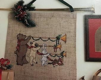 APRILSALE Leisure Arts Herald the Holidays counted cross stitch design
