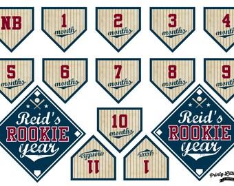 Printable Vintage Baseball Rookie Year/First Year Banner