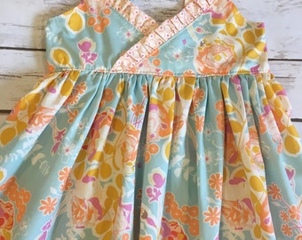 Sun dress for baby, toddler girls - boutique Easter dress - maxi dress - toddler maxi dress - floral dress - maxi dress for girls