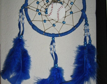 Personalized Dreamcatcher with your name and team, handmade by dreamcatcherman