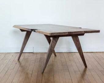 Modern Coffee Table - Black Walnut, Live Edge, Dark Wood Coffee Table