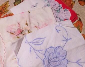 Set of 3 vintage handkerchiefs