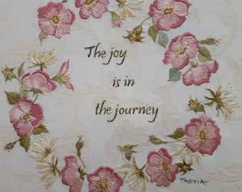 Hand Embroidery. Roses embroidery.  Embroidery Pattern. Thread painting.