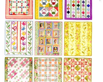 Hand Applique Fat Quarter Quilting: Pastel Quilt Pattern Small Quilts 9 Patterns 16X20 Inches By Lori Smith From My Heart