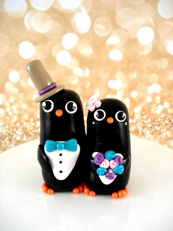 Etsy Penguin Wedding Cake Topper