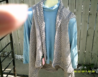 Knit shawl -- can be worn 4 ways