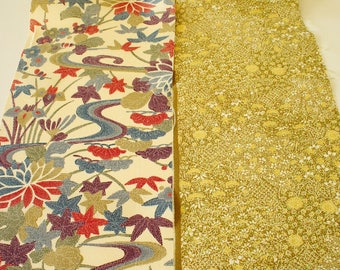 Vintage Japanese Silk Kimono Fabric | Patchwork Lot 113