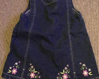 Hand embroidered jean jumper