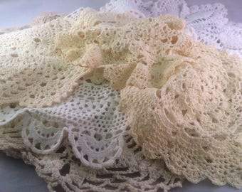 LOT Vintage Crocheted Doilies