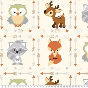 New! Buddies Anti-Pill Fleece Fabric fabric by the yard/David Textiles/Free shipping available/baby fabric/fox/owl/deer/Your Fleece