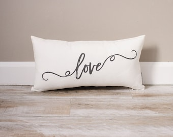 Love Pillow | Monogrammed Gift | Gifts For Her | Valentine's Day Gift | Valentine's Day Gift For Husband | Valentine's Decor | Wife Gift