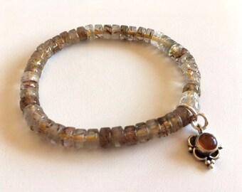 Rutilated Quartz Bracelet-Quartz Energy Bracelet