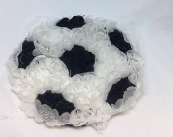 Soccer ball Shabby Chiffon Appliqué