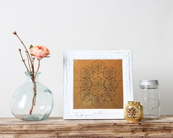 Gold Flower of Life: Inviting Abundance - Fine Art Print - handmade and signed by artist