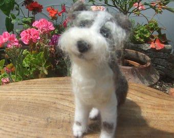SCRUFF - An Adorable One-Off Needle Felt Mini Terrier