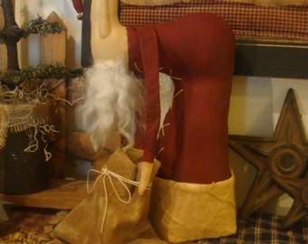 Primitive Handmade Santa Claus