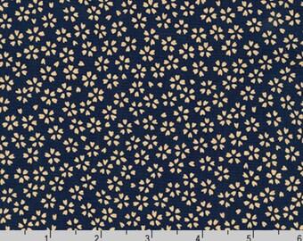 Sevenberry Kasuri - Blossoms Navy Blue by Sevenberry from Robert Kaufman