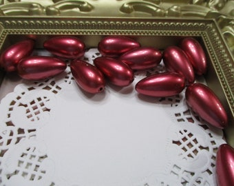 Vintage 26mm Pomegranate Pearl Drop Beads-Costume-Old Stock-Made in Japan