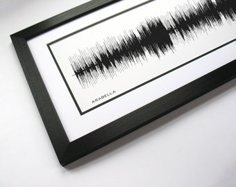 Sound Wave Song - Arabella - Sound Wave Art. Made from entire song.