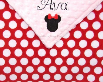 Monogrammed Minky Baby Blanket, Personalize Baby Blankets, Name Blanket, Newborn Gifts, Black White Red Nursery, Embroidery Optional , 30x36