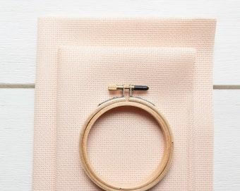 Cross Stitch Fabric - 14 count Aida Cloth | 100 percent cotton Peach Cross Stitch Aida Fabric - Touch of Peach (14 ct)