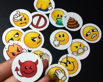 Devil Emoticon Sticker Set