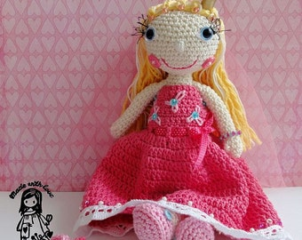 Crochet pattern - princess doll DIY