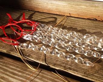 Lampwork Glass Icicle Christmas Tree Ornament