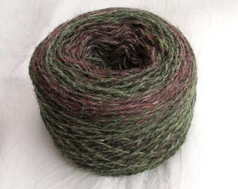 2-ply wool yarn, Ullcentrum, 300 m / 100 g, 100 g, self striping yarn, Made in Sweden, 100% wool yarn, Swedish sheep breeds, pure new wool