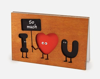 Funny Love Card, I Love You Cards,  Funny Anniversary Сard, Card For Him Husband Her Wife,  Anniversary Gift,  Wedding Anniversary Card