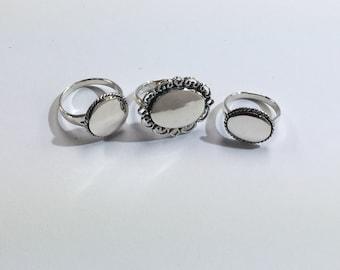 Sterling Silver Engravable Rings