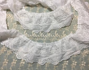 Three Layer Pleated Lace
