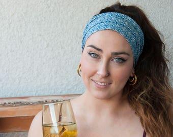 Halomaia Wide Fabric Headband with Elastic//Headband for women and girls//Turban-Style Headband for women//Boho Headband//Chic Headband