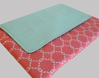 MacBook Air Sleeve, MacBook Air Case, MacBook Air 11 Inch Sleeve, MacBook Air 11 Case, MacBook Air Cover Mint Coral