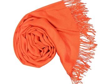 Lightning orange  Pashmina Scarf Gift For Her Shawl Pashmina Wrap Pashmina Scarves Wedding Pashminas Bridesmaid Shawls P59