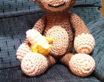 "12"" Crocheted Monkey"
